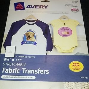 """New Stretchable Fabric Transfers 8 1/2"""" x 11"""""""
